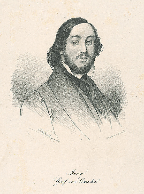 Cäcilie Brandt, August Kneisel - Gróf Mário von Candia
