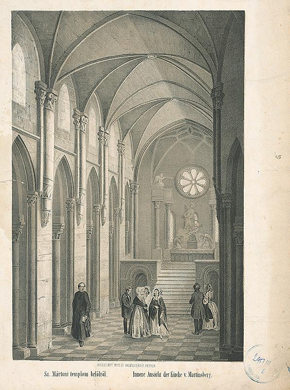 Stredoeurópsky autor z 19. storočia - Interiér chrámu