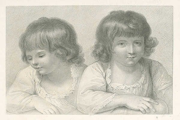 Francúzsky autor z 19. storočia – Dve dievčatká