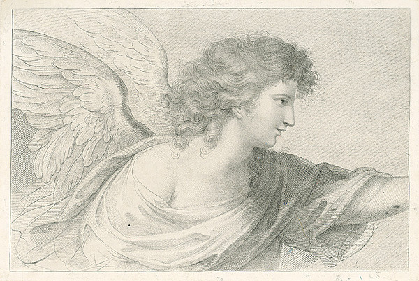 Stredoeurópsky grafik z 19. storočia - Anjel