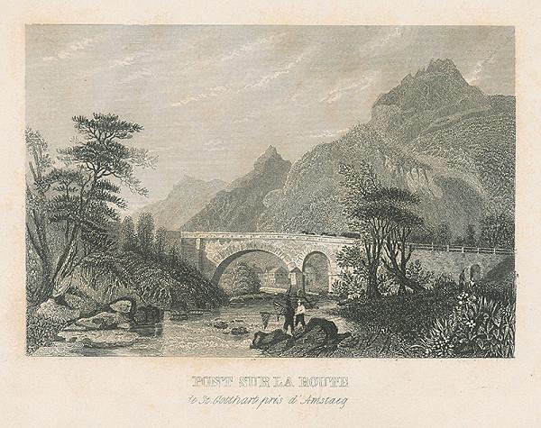 Stredoeurópsky autor z 19. storočia - Krajina s mostom