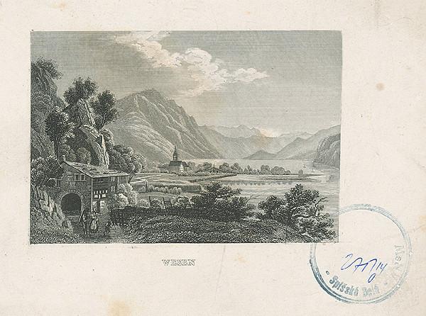 Stredoeurópsky autor z 19. storočia - Krajina s jazerom