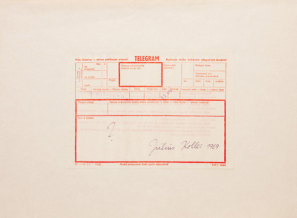 Július Koller – ?. Július Koller 1969 (Telegram)