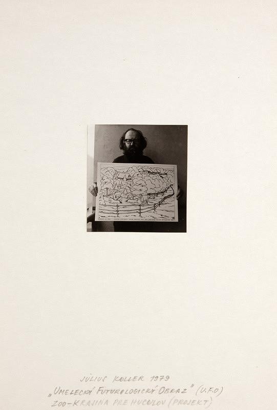 Július Koller – Umelecký futurologický obraz (U.F.O.) (ZOO-krajina pre huculov – projekt)