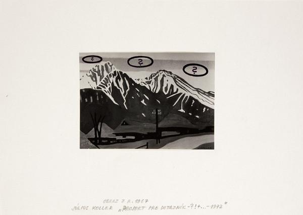 Július Koller – Projekt pre dotazník – ?!+ - 1972