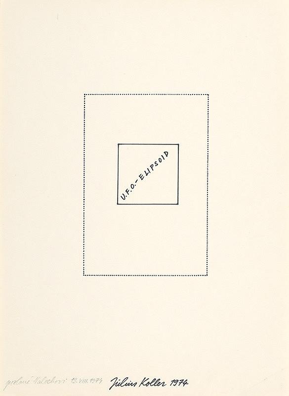 Július Koller – U.F.O. – elipsoid