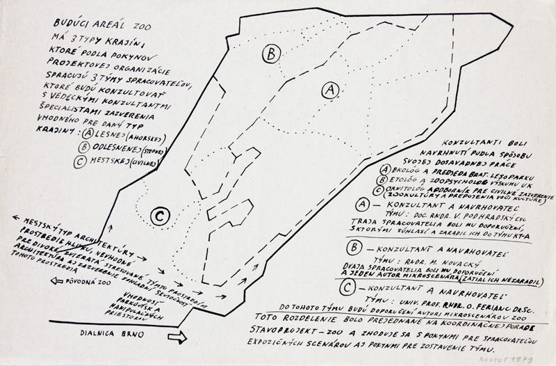 Peter Bartoš – Koncept prostredia budúceho prostredia pavilónov ZOO, po 1985, Slovenská národná galéria