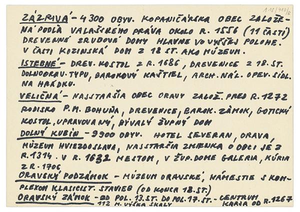 Július Koller - Archív JK/Orava (kartičkový rešerš) IV.