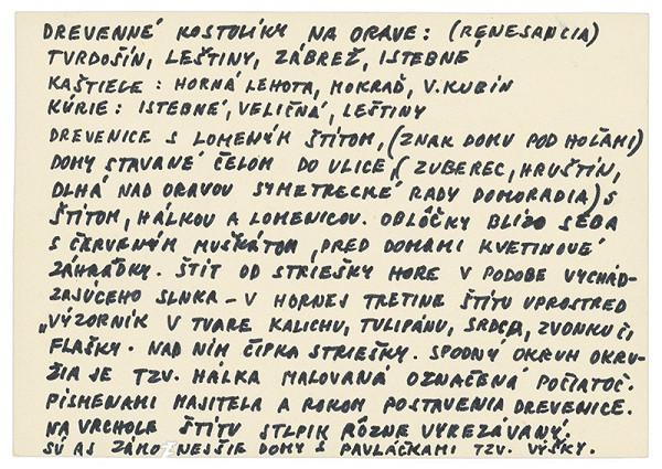 Július Koller - Archív JK/Orava (kartičkový rešerš) VII.