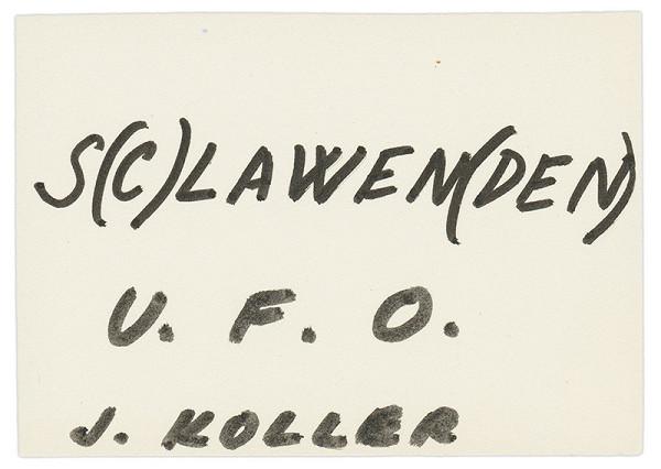 Július Koller - Archív JK/S(C)LAWEN(DEN)
