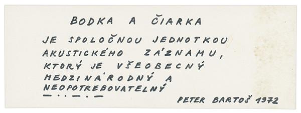 Peter Bartoš - Archív JK/Bodka a čiarka