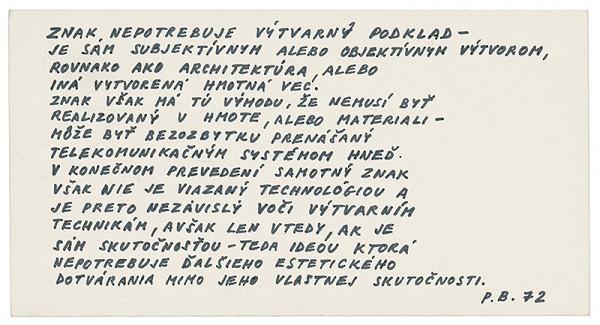 Peter Bartoš - Archív JK/Znak nepotrebuje výtvarný podklad...