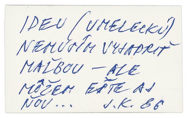 Július Koller – Archív JK/Ideu (umeleckú)...