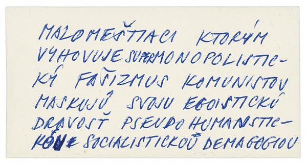 Július Koller - Archív JK/Najväčší egoisti...