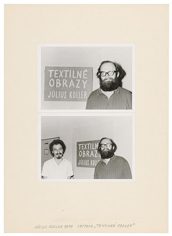 """Július Koller – Archív JK/Výstava """"Textilné obrazy"""" (2)"""