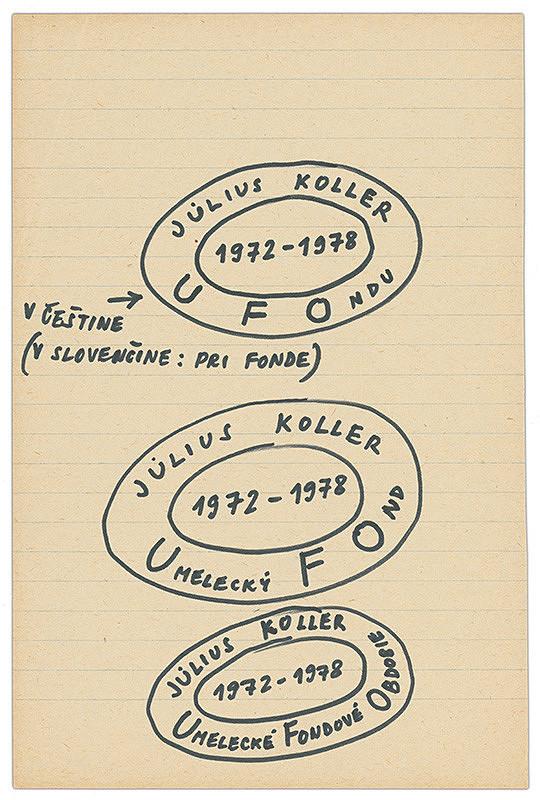Július Koller – Archív JK/Július Koller 1972 - 1978 UFOndu
