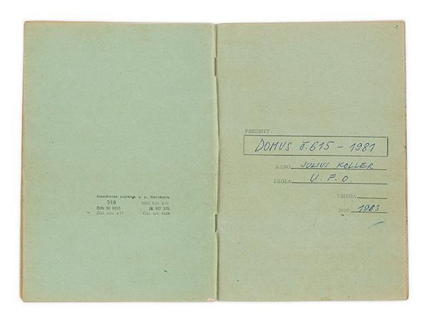 Július Koller - Archív JK/Domus č. 615/1981