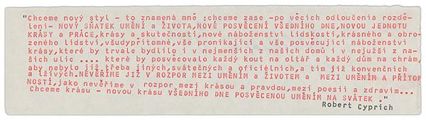 Robert Cyprich – Archív JK/Robert Cyprich: FAGA: ready-made ´79/niekoľko šaldovských viet