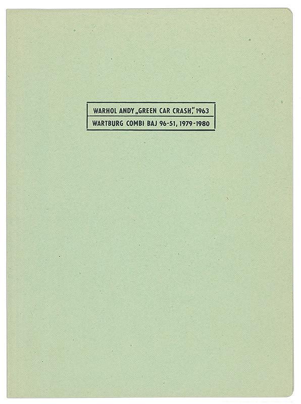 Igor Peter Meluzin – Archív JK/Warhol Andy - Wartburg Combi (Moto-test pre posunovačov)