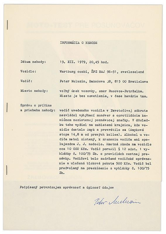 Igor Peter Meluzin – Archív JK/Warhol Andy - Wartburg Combi (mototest pre posunovačov)