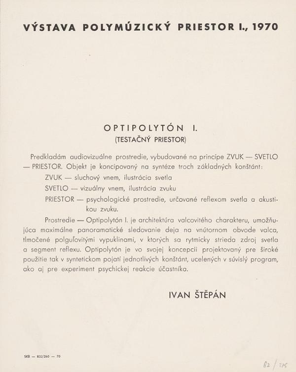 Ivan Štěpán - Archív JK/Optipolytón I.