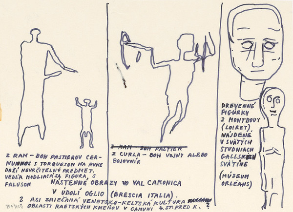 Július Koller – Archív JK/Keltská kresba