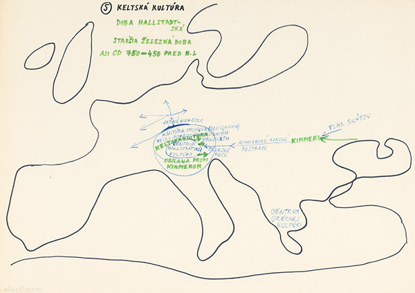 Július Koller – Archív JK/Keltská kultúra (mapa 5)