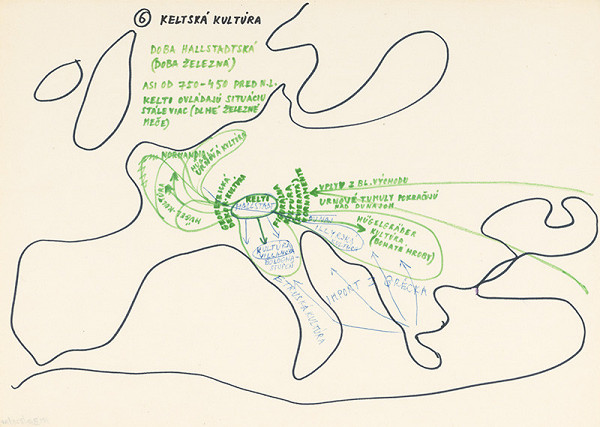 Július Koller – Archív JK/Keltská kultúra (mapa 6)