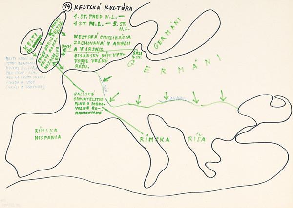 Július Koller – Archív JK/Keltská kultúra (mapa 14)