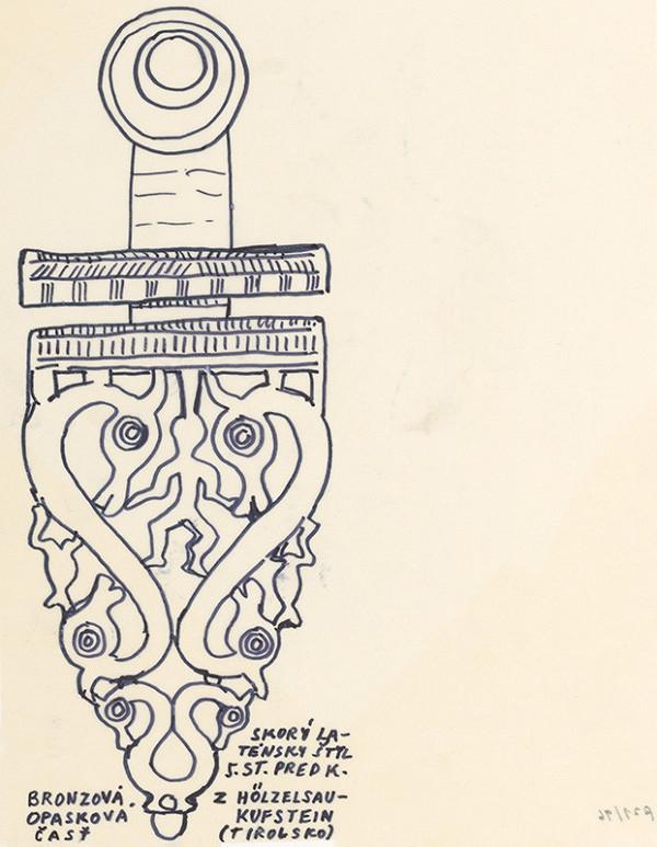 Július Koller - Archív JK/Keltská kresba