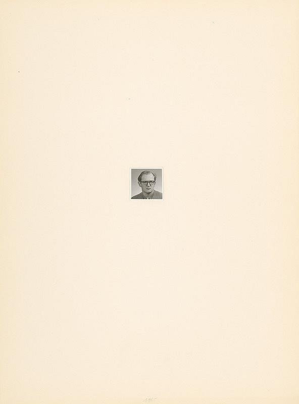 Július Koller – Archív JK/Portrét JK 1965