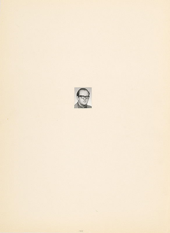 Július Koller – Archív JK/Portrét JK 1966