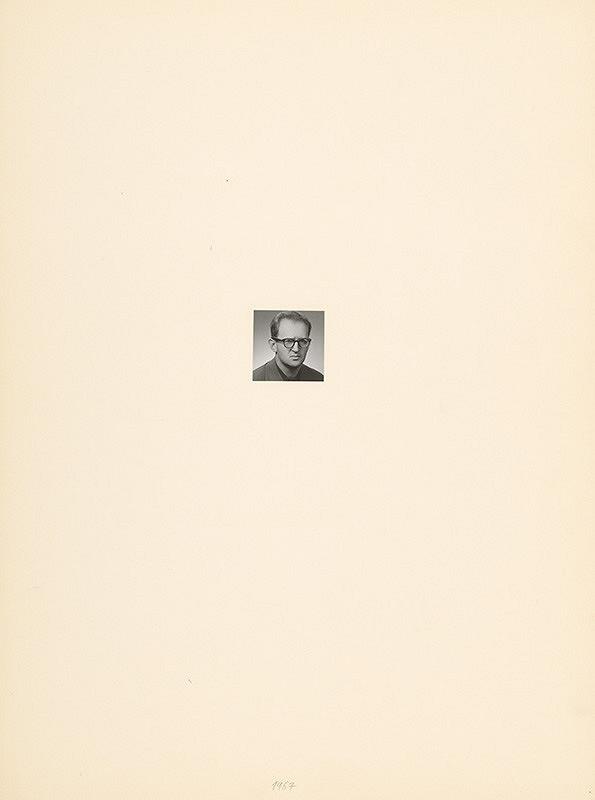 Július Koller – Archív JK/Portrét JK 1967