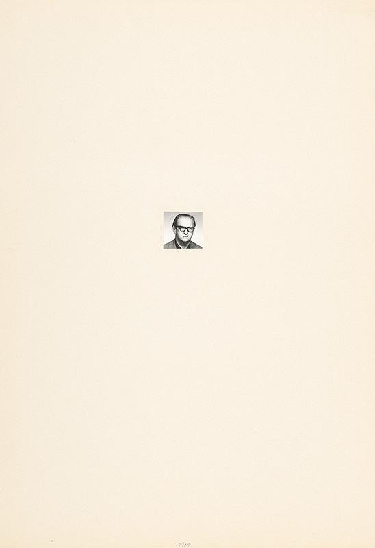 Július Koller – Archív JK/Portrét JK 1969