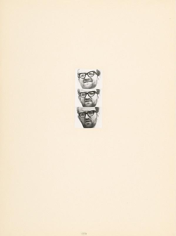 Július Koller - Archív JK/Portrét JK 1970 1-3