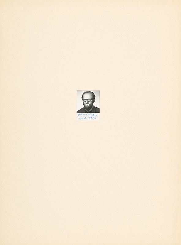 Július Koller – Archív JK/Portrét JK júl 1970