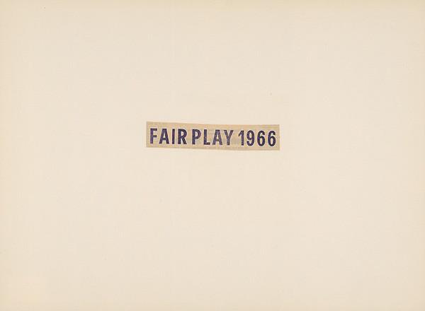 Július Koller – FAIR PLAY 1966