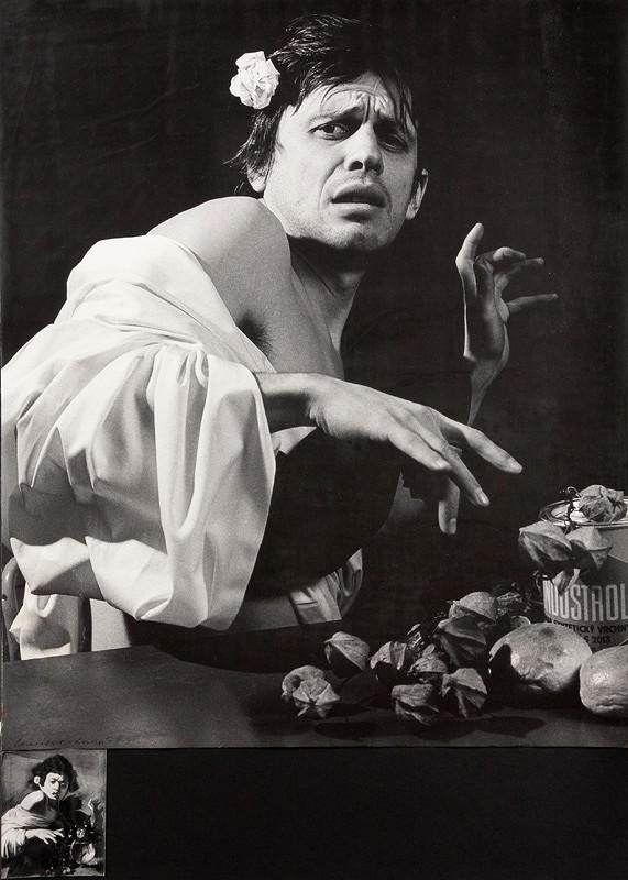 Vladimír Kordoš – Caravaggio/Kordoš: Chlapec uštipnutý jaštericou, 1980, Slovenská národná galéria