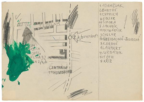 Rudolf Sikora - Návrh pozvánky na I. Otvorený ateliér. Work in progress (1)