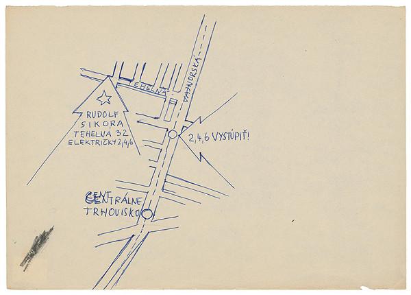 Rudolf Sikora – Návrh pozvánky na I. Otvorený ateliér. Work in progress (6)