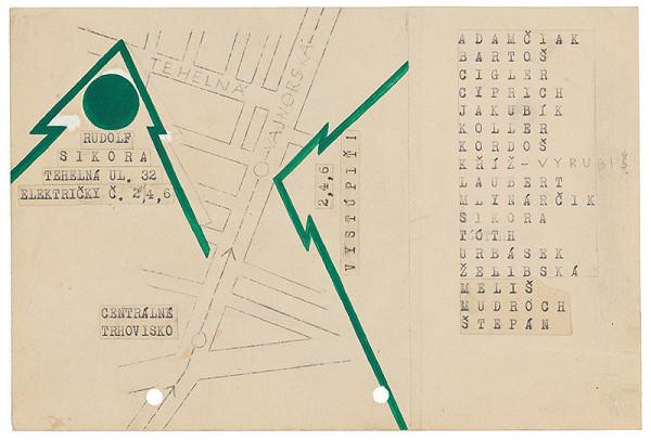 Rudolf Sikora - Maketa pozvánky na I. Otvorený ateliér