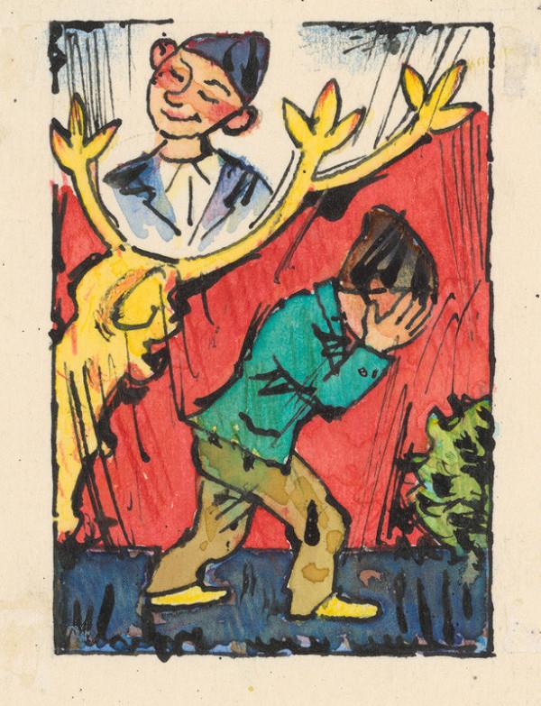 Ľudovít Fulla - Plačúci chlapček s jeleňom