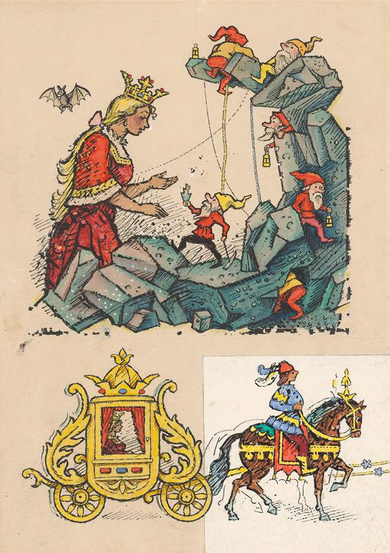 Ľudovít Fulla - Princezná a trpaslíci