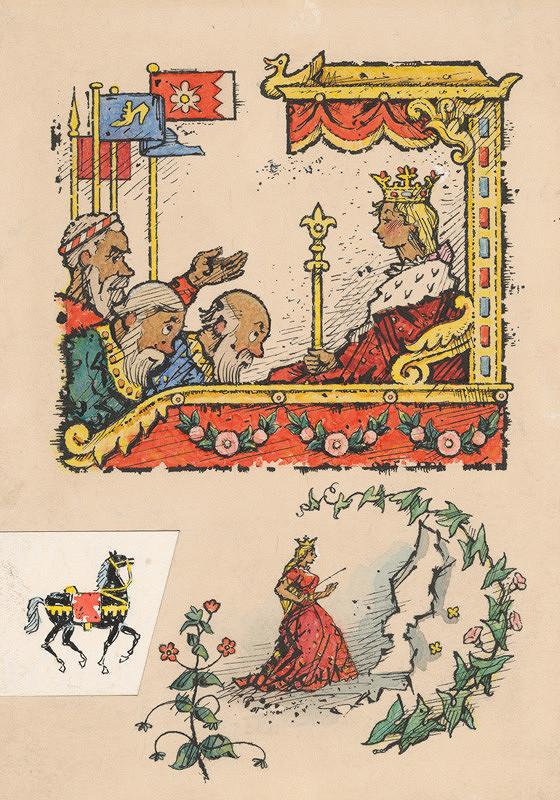 Ľudovít Fulla - Princezná na tróne