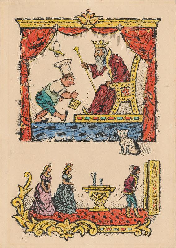 Ľudovít Fulla – Kuchár pred kráľom