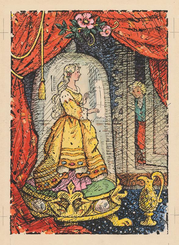 Ľudovít Fulla - Princezná pod sklom