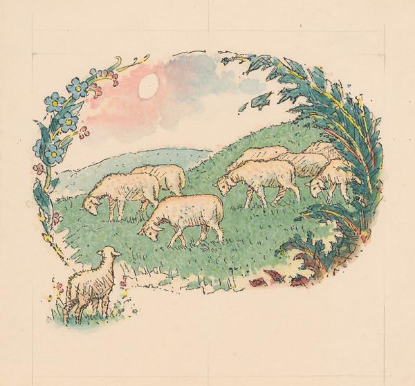 Ľudovít Fulla - Ovce na paši