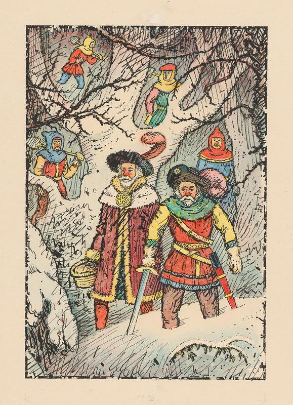 Ľudovít Fulla - Velmoži v snehovom záveji