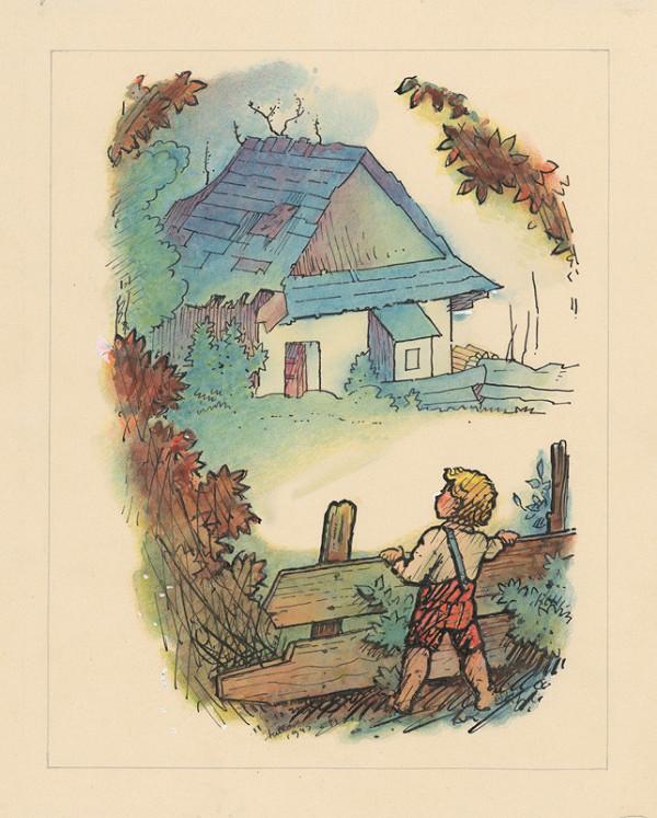 Ľudovít Fulla - Chlapček za plotom