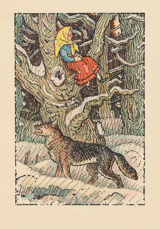 Ľudovít Fulla – Marienka na strome v lese